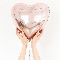 Coração Metalizado Rosé